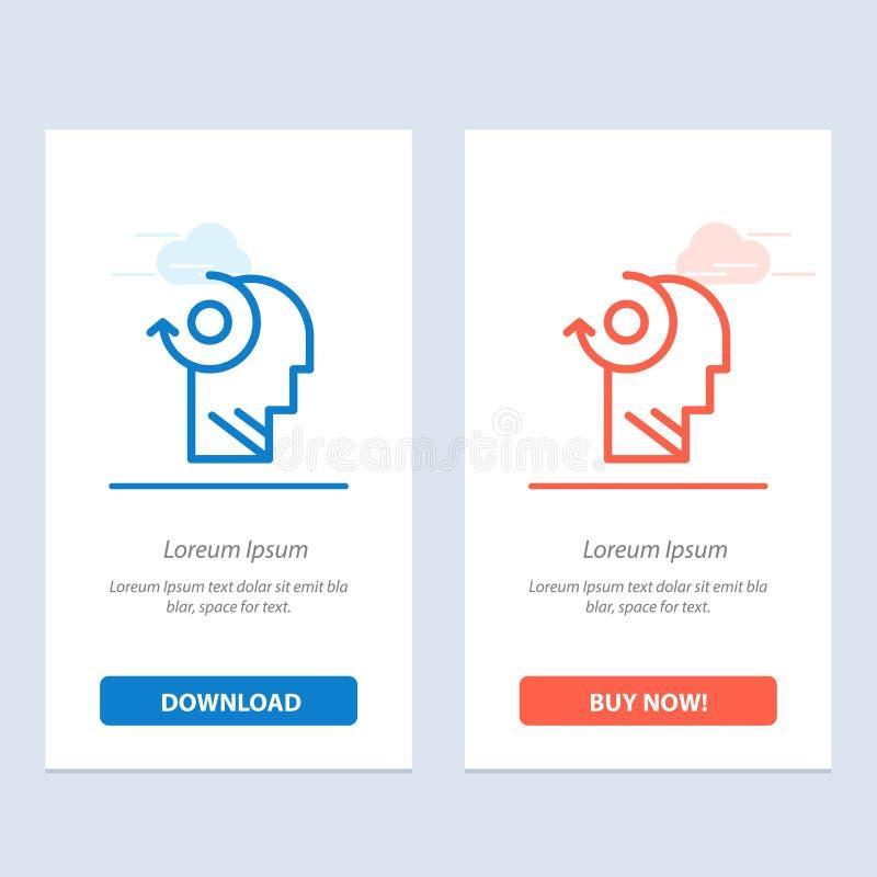 Ontruim, let op, Uw, leid Blauwe en Rode Download en koop nu de Kaartmalplaatje van Webwidget vector illustratie