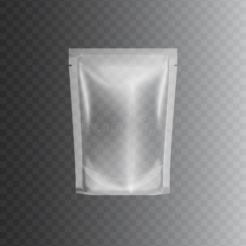 Ontruim verzegeld plastic zakpakket, realistisch 3d model royalty-vrije illustratie