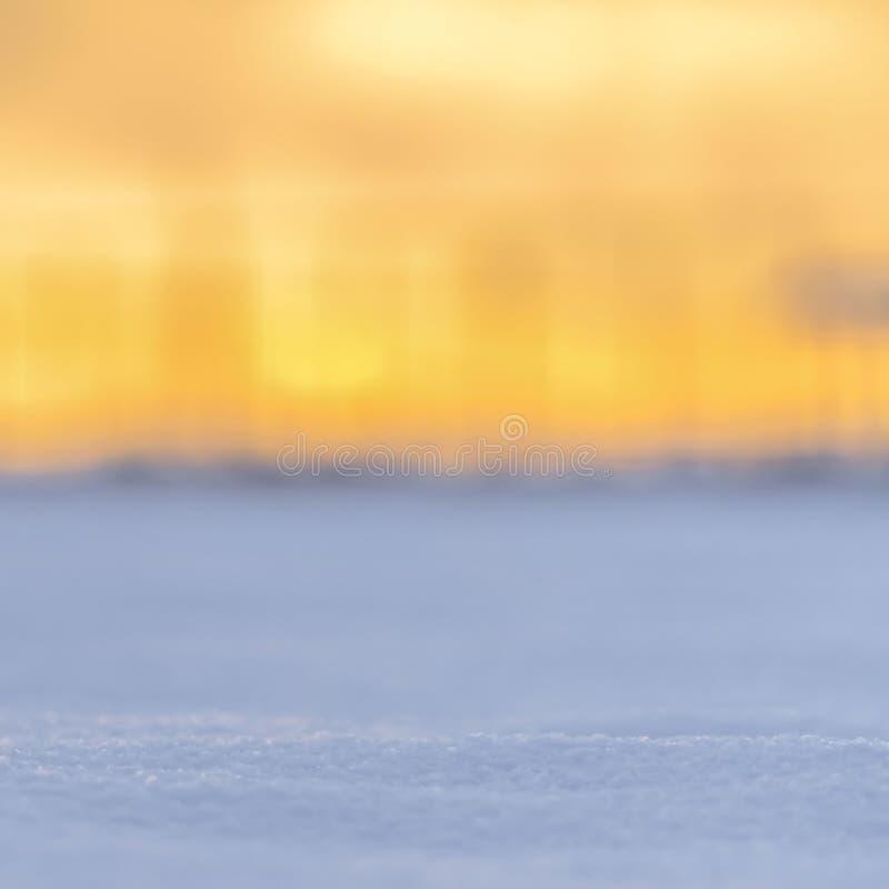 Ontruim Vierkante Dichte omhooggaand van kristallijne witte die sneeuw in Eagle Mountain Utah in December wordt bekeken stock afbeelding