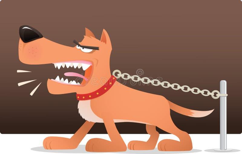 Ontschorsende Hond stock illustratie