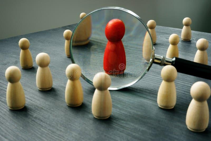 Ontslag en hurende mensen aan het werk Talentenbeheer stock afbeeldingen