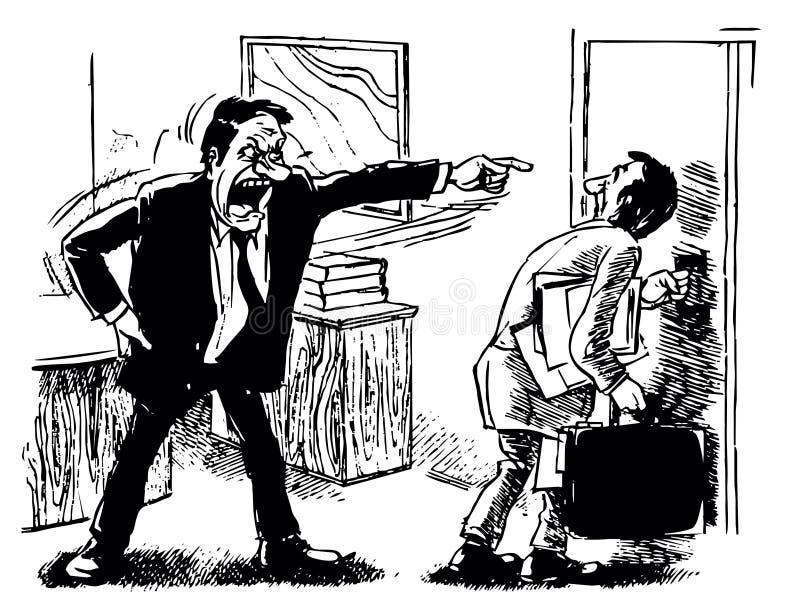 Ontslag van bureau vector illustratie