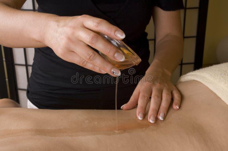 Ontspan massageclose-up stock afbeeldingen