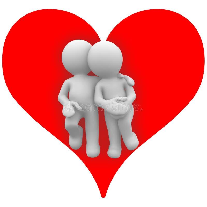 Ontspan in mijn hart vector illustratie