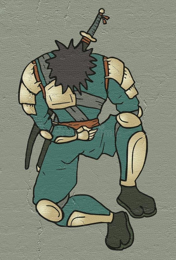 Ontspan ninja stock illustratie