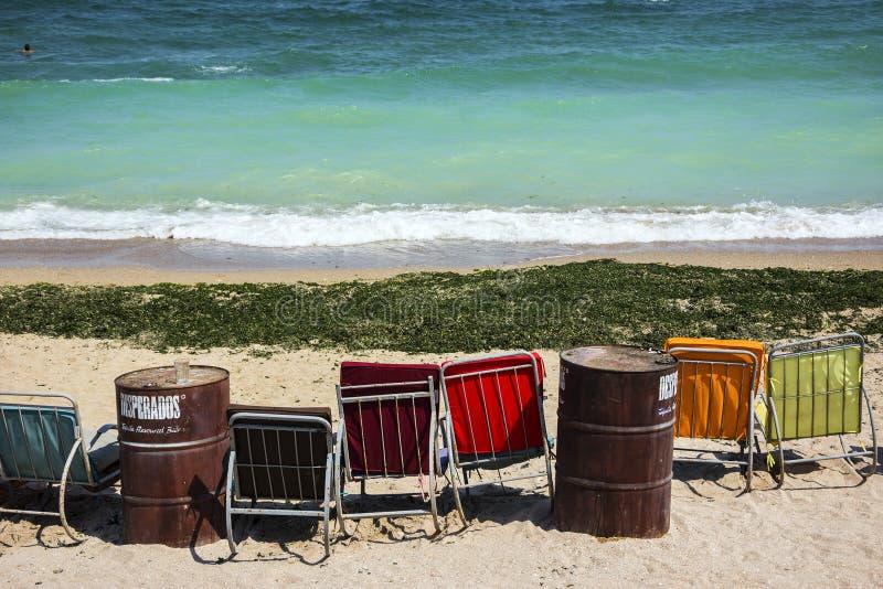 Ontspan op het strand van Vama Veche, Roemenië royalty-vrije stock afbeelding