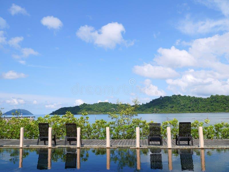 Ontspan tijd in Koh Chang Sea, Thailand royalty-vrije stock afbeelding