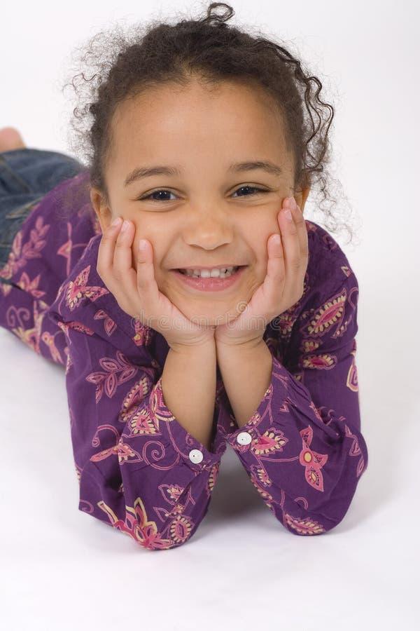 Ontspannen & Glimlachend royalty-vrije stock afbeeldingen