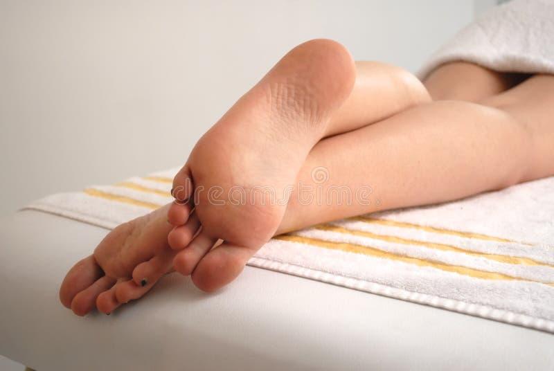 Ontspannen voeten royalty-vrije stock afbeeldingen