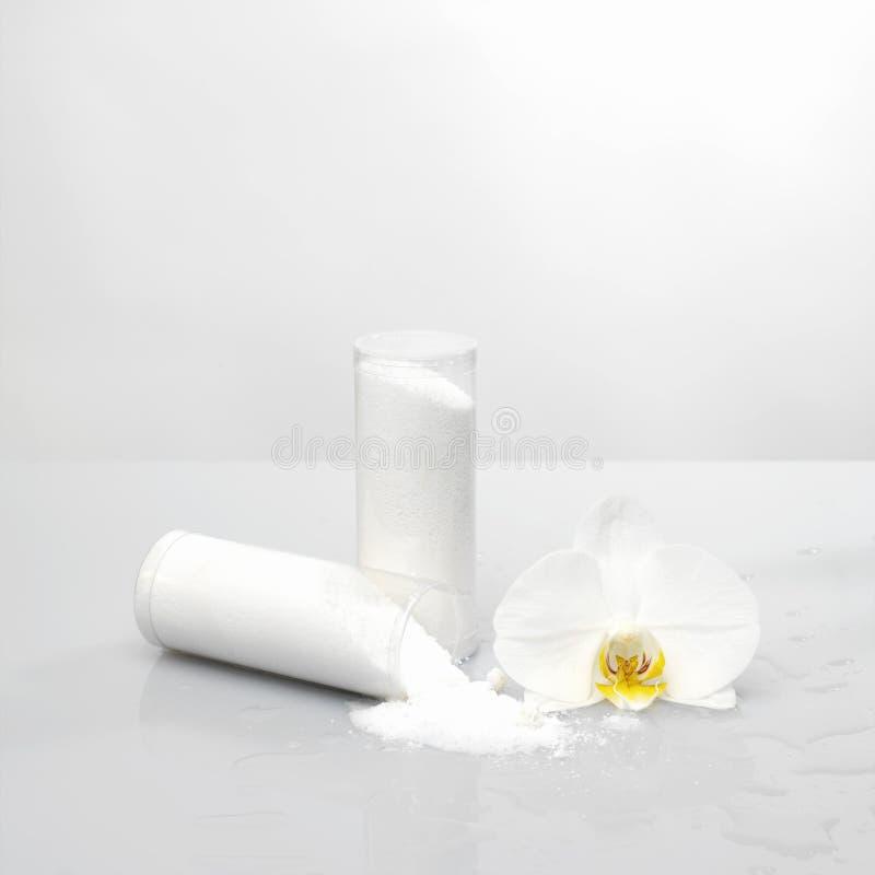 Ontspannend wit in kuuroord royalty-vrije stock foto