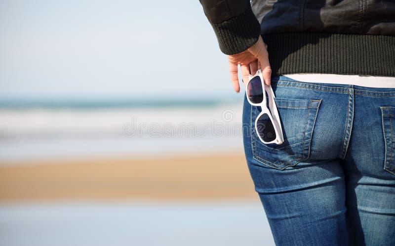 Ontspannende strandreis stock foto's