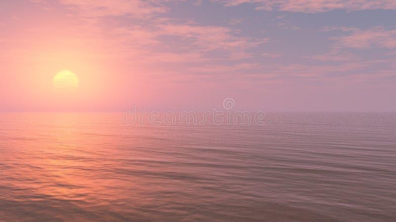 Ontspannende Zonsondergangachtergrond vector illustratie