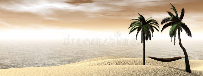 Ontspanning bij 3D vakantie - geef terug vector illustratie