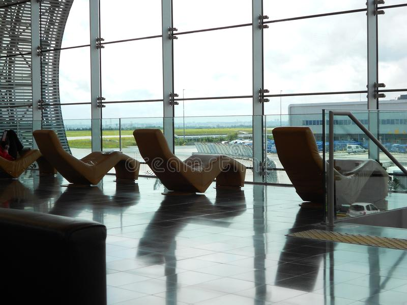 Ontspanning in Charles De Gaulle Airport royalty-vrije stock foto
