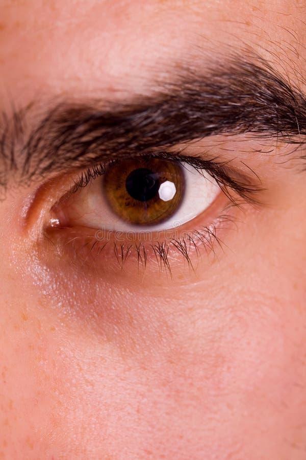 ontsproten van man oog stock afbeeldingen