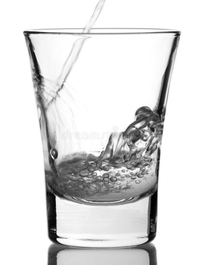 Ontsproten van wodka royalty-vrije stock afbeelding
