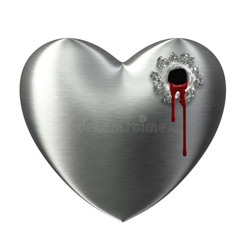 Ontspruit gebroken hart aftappend gat royalty-vrije illustratie