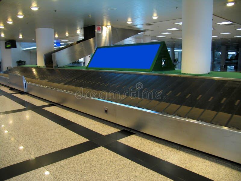 Ontvangen bagagegebied stock afbeelding
