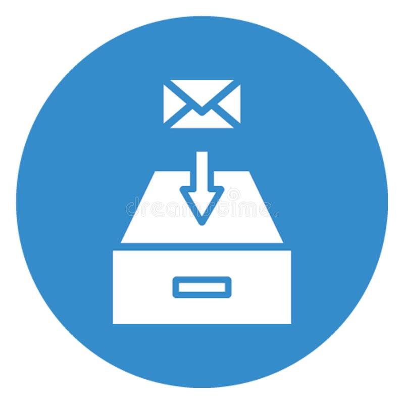 Ontvangen e-mail isoleerde Vectorpictogram dat zich gemakkelijk kan wijzigen royalty-vrije illustratie