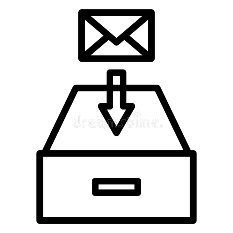 Ontvangen e-mail isoleerde Vectorpictogram dat zich gemakkelijk kan wijzigen vector illustratie