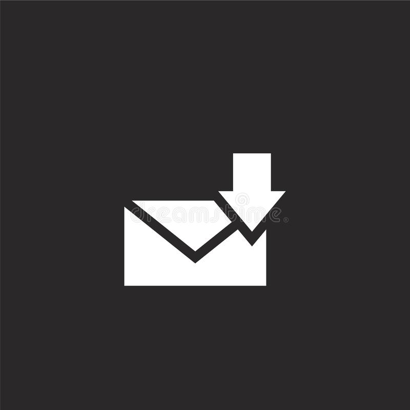ontvangen pictogram Gevuld ontvangen pictogram voor websiteontwerp en mobiel, app ontwikkeling ontvangen pictogram van gevulde e- royalty-vrije illustratie