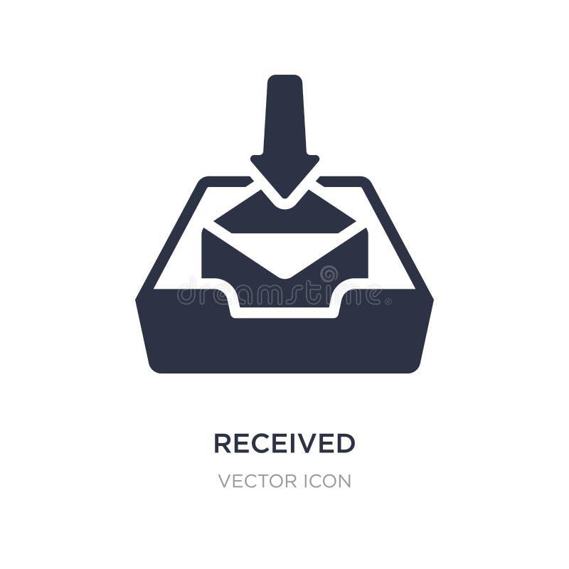 ontvangen pictogram op witte achtergrond Eenvoudige elementenillustratie van Technologieconcept royalty-vrije illustratie