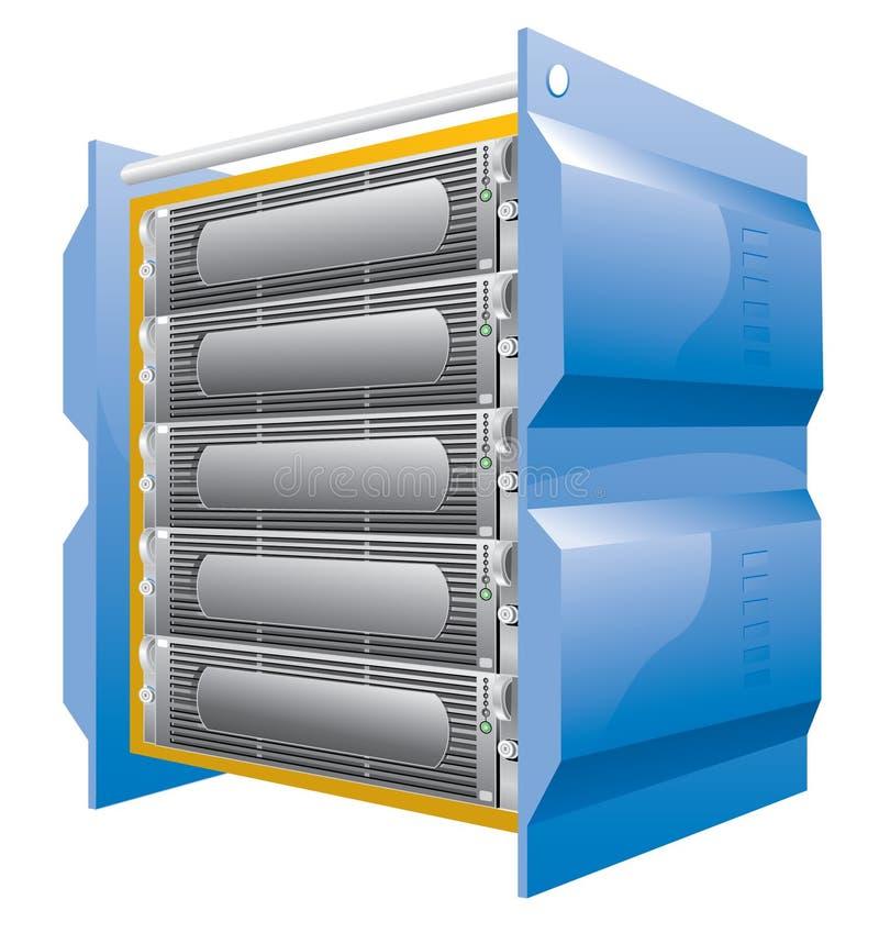 Ontvangende server vector illustratie