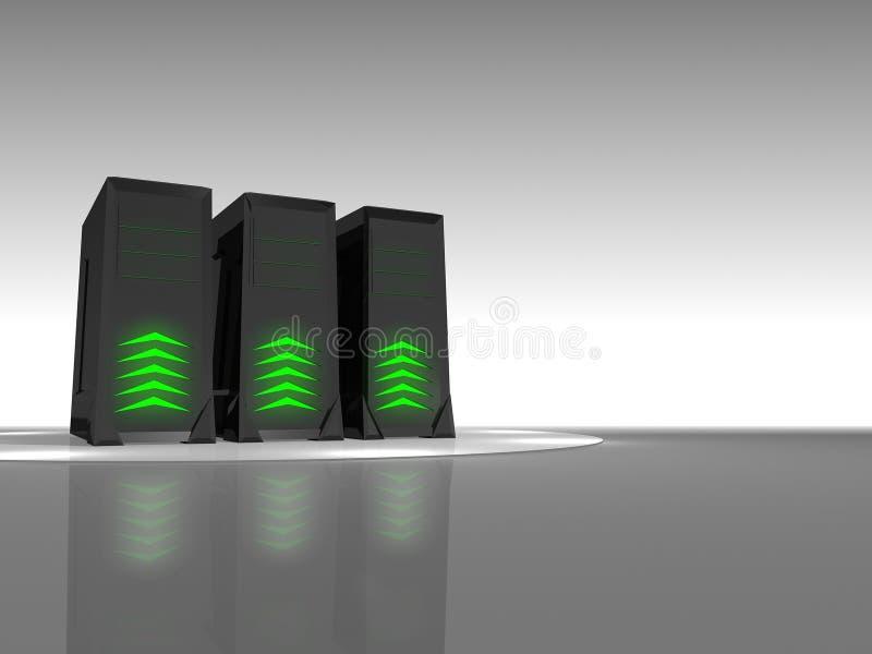 Ontvangende Servers vector illustratie