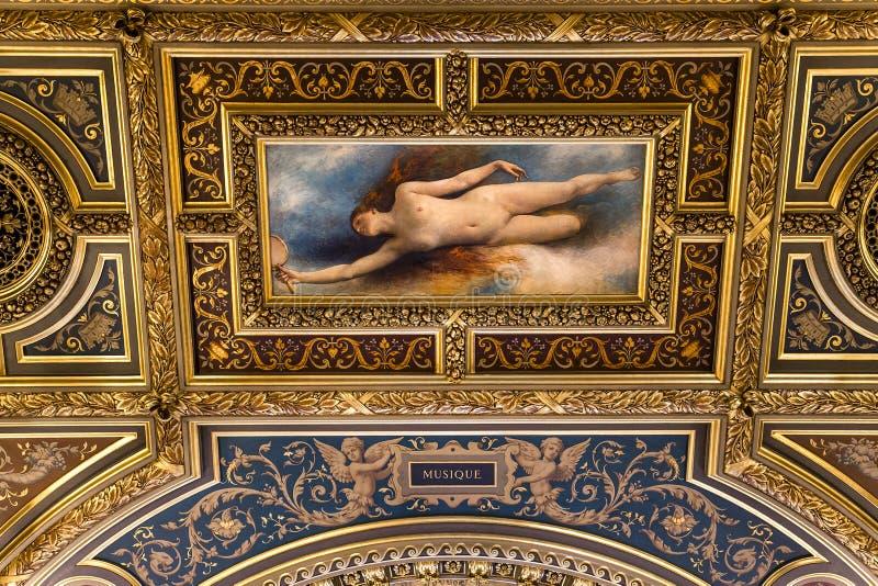 Ontvangstruimten van het stadhuis, Parijs, Frankrijk royalty-vrije stock afbeeldingen