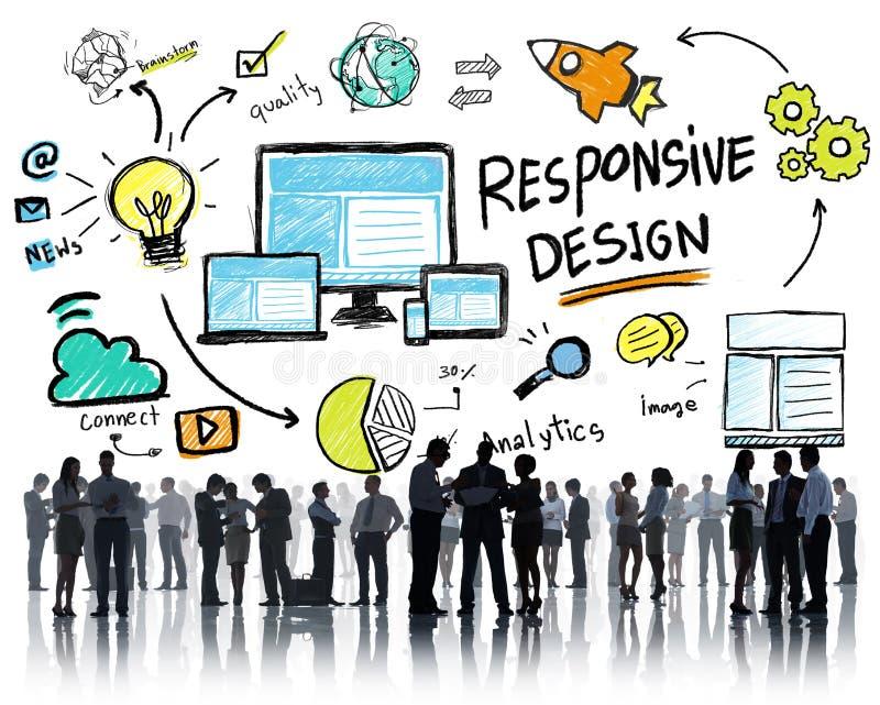 Ontvankelijk het Web Online van Bedrijfs ontwerpinternet Concept stock afbeeldingen