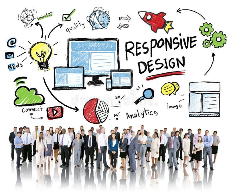 Ontvankelijk het Web Online van Bedrijfs ontwerpinternet Mensenconcept royalty-vrije stock foto's