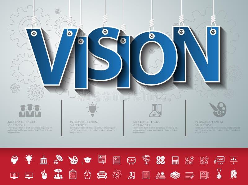 Ontwerp abstracte infographic voorzijde op de kabel Vector/illustratio stock illustratie