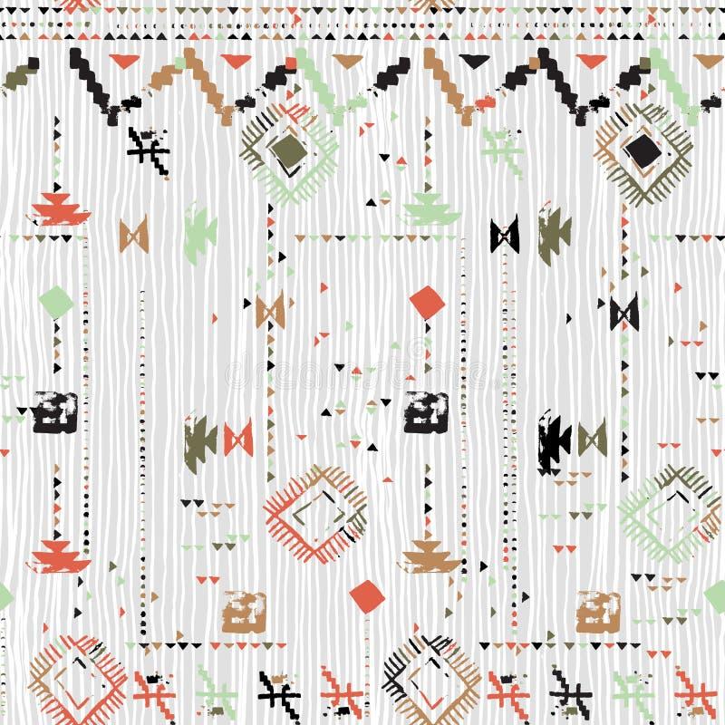 Ontwerp in Azteekse stijl met hand geschilderde chevron stock illustratie