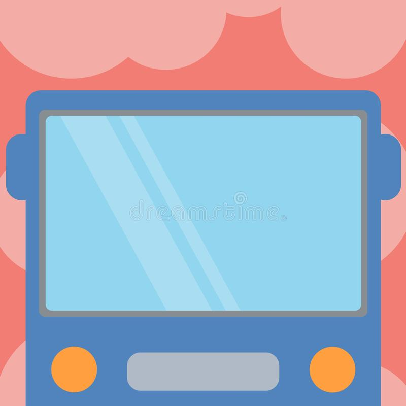 Ontwerp bedrijfs Lege malplaatje isoleerde Minimalistisch grafisch lay-outmalplaatje voor adverterend Getrokken Vlak Front View v vector illustratie