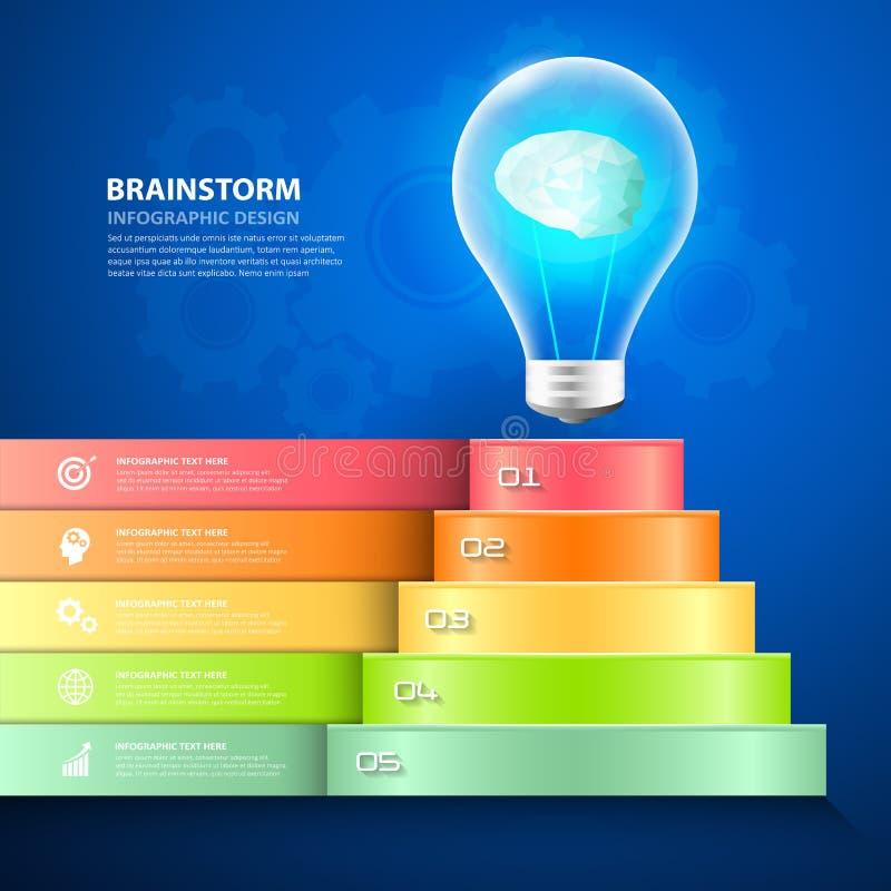 Ontwerp bedrijfstrap conceptuele infographics royalty-vrije illustratie