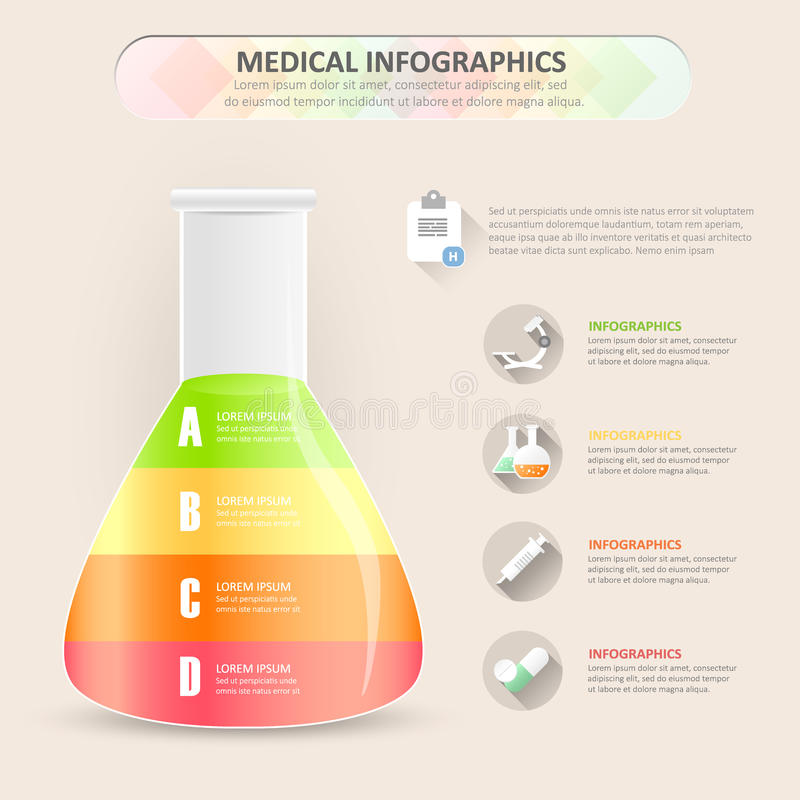Ontwerp chemisch infographic malplaatje royalty-vrije illustratie
