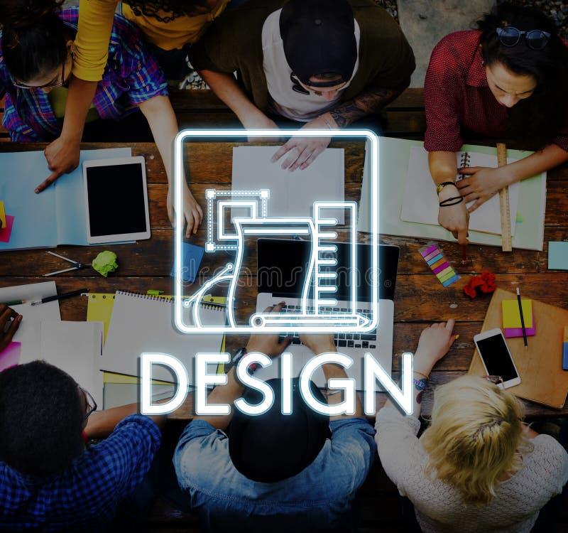 Ontwerp Creatieve Ideeën Modelsketch draft concept royalty-vrije stock fotografie