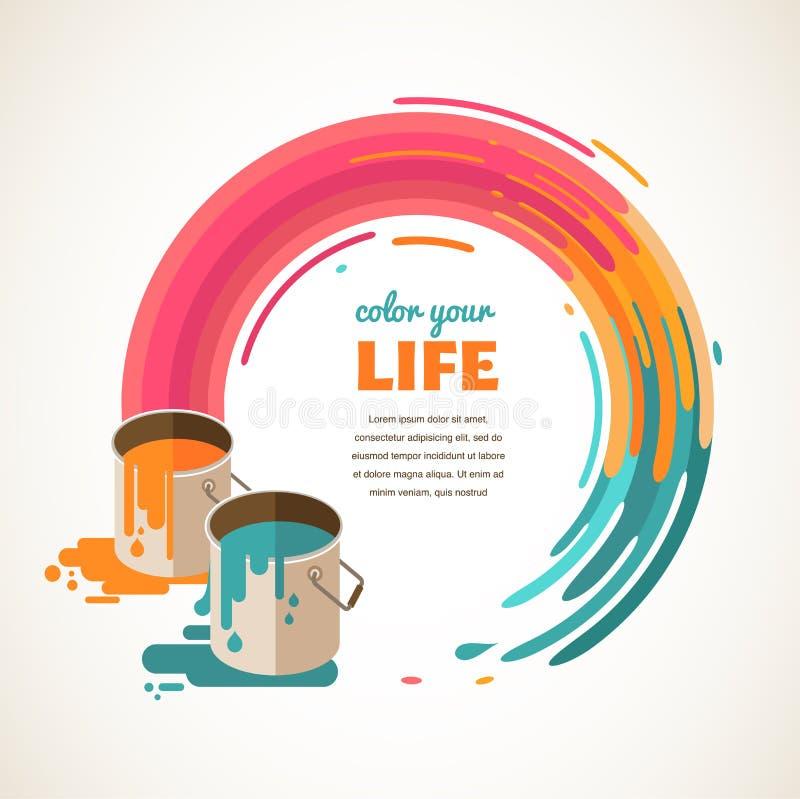 Ontwerp, creatieve, idee en kleurenconcept royalty-vrije illustratie