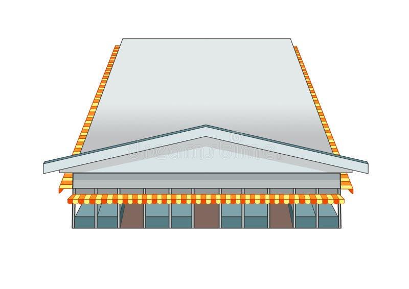 Ontwerp de bouwmarkt en Grijze kleur stock illustratie