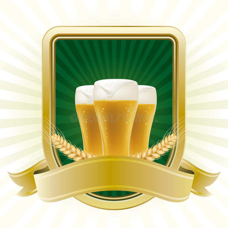 ontwerp element voor bier vector illustratie