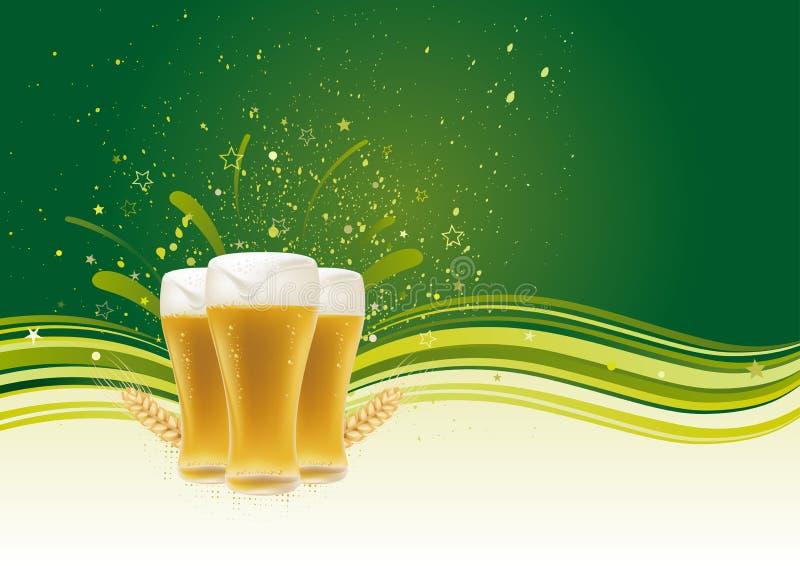 ontwerp element voor bier royalty-vrije illustratie