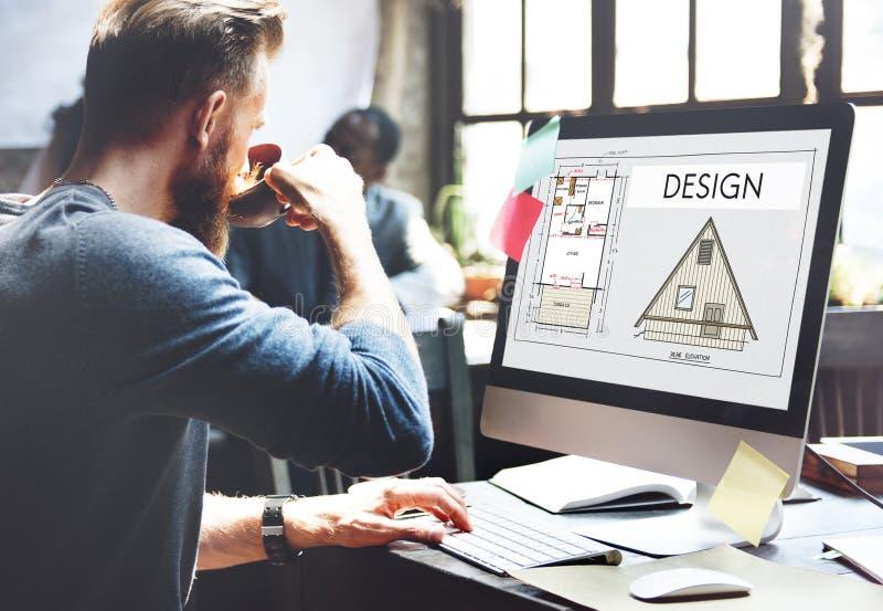 Ontwerp Grafisch Creatief het Ontwerpconcept van het Planningsdoel stock foto's