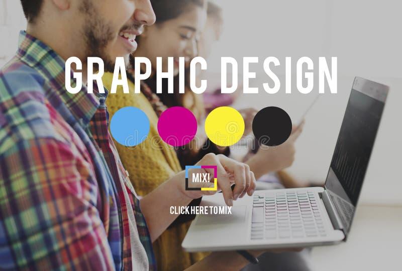 Ontwerp Grafisch Creatief het Ontwerpconcept van het Planningsdoel royalty-vrije stock foto's