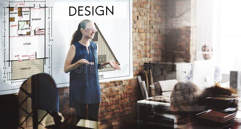 Ontwerp Grafisch Creatief het Ontwerpconcept van het Planningsdoel stock afbeeldingen