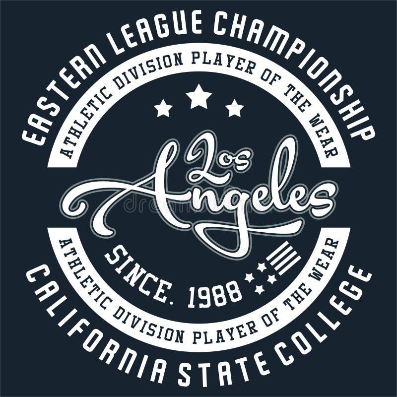 Ontwerp Los Angeles stock illustratie