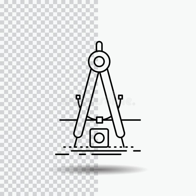 Ontwerp, maatregel, product, verbetering, het Pictogram van de Ontwikkelingslijn op Transparante Achtergrond Zwarte pictogram vec stock illustratie