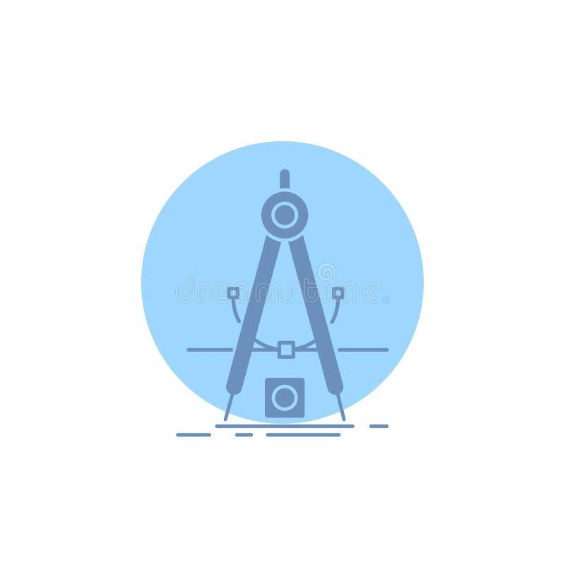 Ontwerp, maatregel, product, verbetering, het Pictogram van Ontwikkelingsglyph vector illustratie