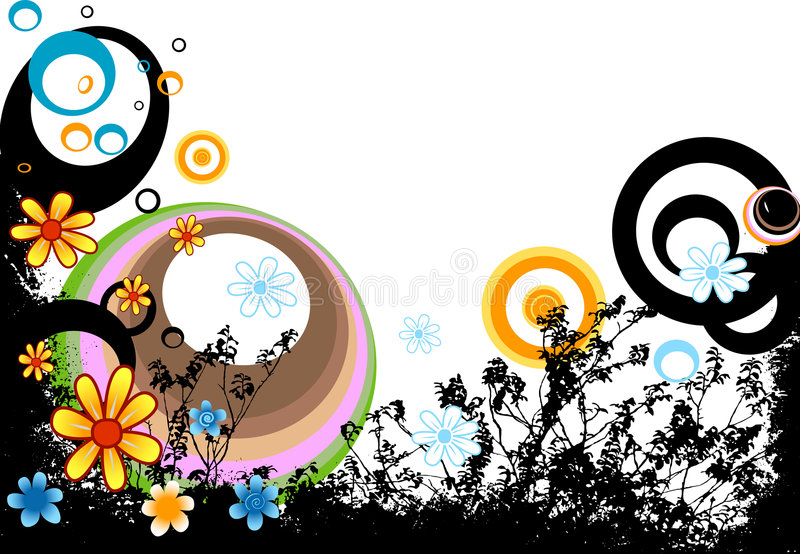 Ontwerp met bloemen stock illustratie
