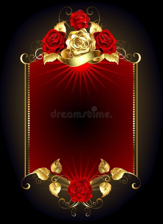 Ontwerp met rozen stock illustratie