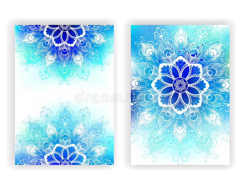 Ontwerp met witte mandala stock illustratie